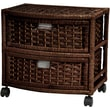 Oriental Furniture 2 Drawer Accent Chest; Mocha