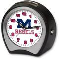 Cottage Garden Collegiate Alarm Table Clock; University of Mississippi