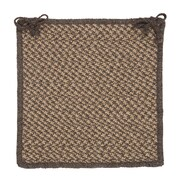 Colonial Mills Natural Wool Houndstooth Dining Chair Cushion; Caramel