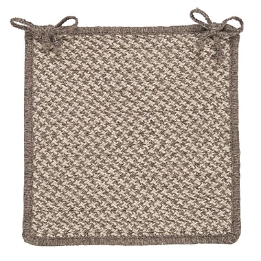 Colonial Mills Natural Wool Houndstooth Dining Chair Cushion (Set of 4); Latte