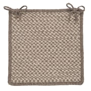 Colonial Mills Natural Wool Houndstooth Dining Chair Cushion; Latte