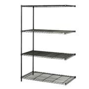 Safco Products Industrial Wire Add-On Unit (48'' x 24'' Shelves); Black
