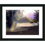 Studio Works Modern ''Carmel Beach Sunset'' by Zhee Singer Framed Graphic Art; Black