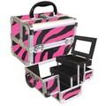 Seya Makeup Case; Pink Zebra