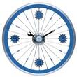 Maples Clock 16'' Bike Wall Clock; Blue