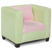 Hannah Baby Kid's Modern Chair; Lime and Pink