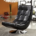 Hokku Designs Denny Swivel Lounge Chair; Black