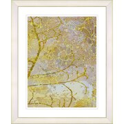 Studio Works Modern ''Gold Flower Branches'' by Zhee Singer Framed Graphic Art in Yellow; White