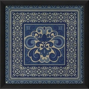 The Artwork Factory Tile 4 Framed Graphic Art; Blue
