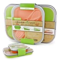 Smart Planet Collapsible Eco Lunch Box Set; Orange & Green