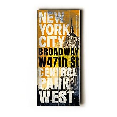Artehouse LLC New York City Transit by Cory Steffen Textual Art Plaque