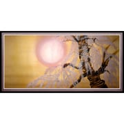Oriental Furniture Sakura Blossoms Framed Painting Print