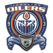 Wincraft NHL Plaque Wall Clock; Edmonton Oilers