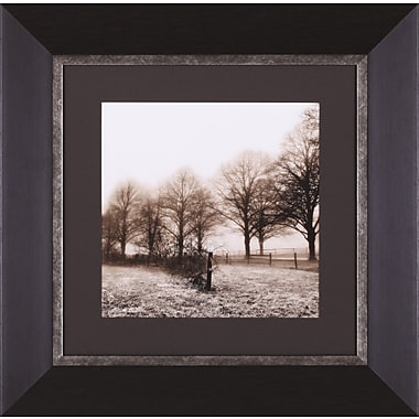 Art Effects Fence Row and Trees by Harold Silverman Framed Photographic Print