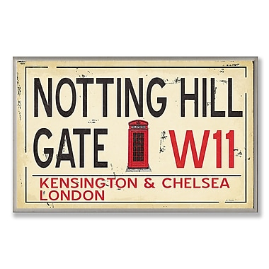 Stupell Industries Notting Hill Gate W11 Railroad Textual Art Wall Plaque
