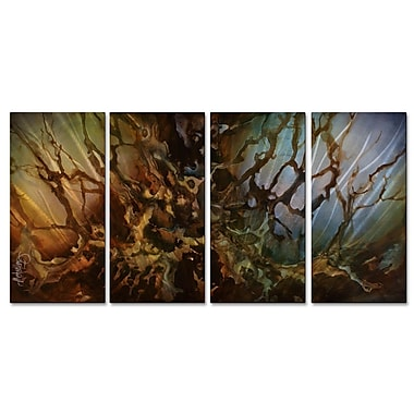 All My Walls 'Perseverance' by Michael Lang 4 Piece Graphic Art Plaque Set