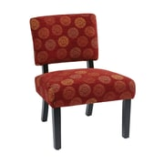 Office Star Jasmine Accent Chair; Wine