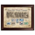 American Coin Treasure 150 Year Anniversary Civil War Stamp Framed Memorabilia