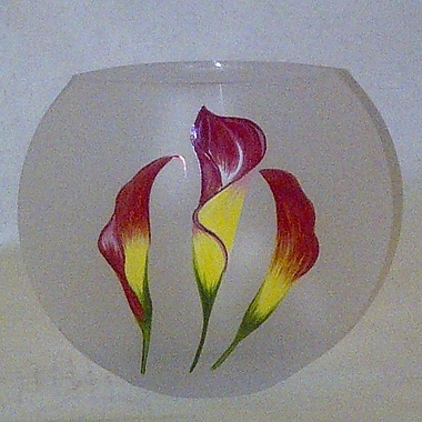 Womar Glass Calla Lily Vase
