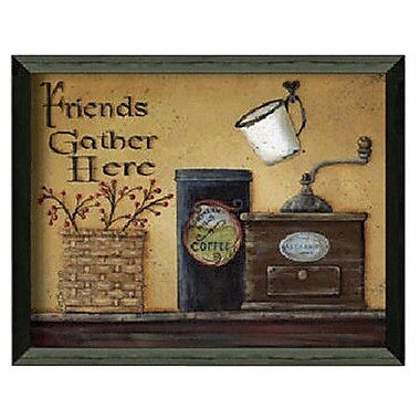 Timeless Frames Friends Gather Here by Pam Britton Framed Painting Print