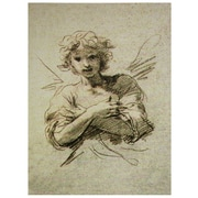 Oriental Furniture Angel Graphic Art on Wrapped Canvas
