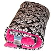 Tivoli Couture Plush Reversible Stroller Seat Lining; Damask Hot Pink