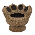 LumiSource Paw Chairs Accent Stool; Leopard