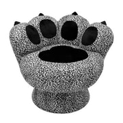 LumiSource Paw Chairs Accent Stool; Snow Leopard