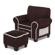 Hannah Baby Club Chair and Ottoman Set; Ivory / Chocolate