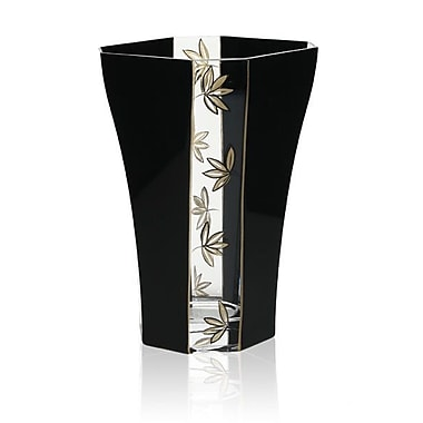 Womar Glass Leaves Decorative Vase