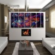 All My Walls Abstract by Ash Carl Metal Wall Art in Black Multi - 23.5'' x 60''