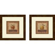 PTM Images Kitchen Elegant Edibles 2 Piece Framed Graphic Art Set
