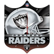 Wincraft NFL High Def Plaque Wall Clock; Oakland Raiders