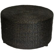 Oriental Furniture Rush Grass Coffee Table; Black