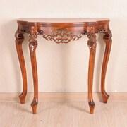 International Caravan Windsor Hand Carved Wood Indoor Console Table