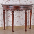 International Caravan Windsor Hand Carved Half-Moon Console Table