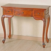 International Caravan Windsor Hand Carved Wood Vanity Console Table
