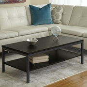 Jesper Office Parson Coffee Table with Shelf; Espresso