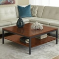 Jesper Office Jesper Office P3939S Square Coffee Table with Shelf; Cherry