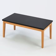 Lesro Lenox Coffee Table with Black Melamine Top; Natural