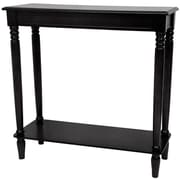 Oriental Furniture Classic Design Hall Console Table; Black