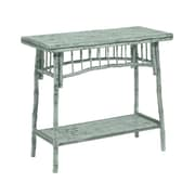 Kenian Coastal Chic Console Table; Antique Dusty Aqua