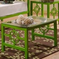 In Style Furnishings Medallion Coffee Table; Green