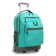 J World Sundance II Laptop Rolling Backpack; Seafoam