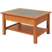 Manchester Wood Coffee Table with Shelf; Chestnut