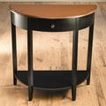 AA Importing Crescent Console Table; Distressed Black