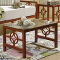 In Style Furnishings Medallion Coffee Table; Red