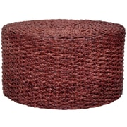 Oriental Furniture Rush Grass Knotwork Coffee Table; Mahogany