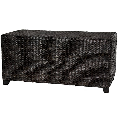 Oriental Furniture Rush Grass Coffee Table; Black