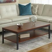 Jesper Office Parson Coffee Table with Shelf; Cherry